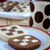 Eggless Checker Board Cookies