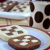 Eggless Checker Board Cookies