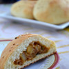 Eggless Stuffed Bread Rolls