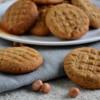 Eggless Peanut Butter Cookies