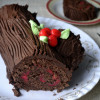 Eggless French Yule Log/ Buche de Noel