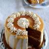 Eggless Caramel Cake with Salted Caramel Buttercream