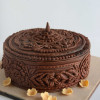 How To Create Wood Carving Effect On Cake with Fondant