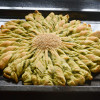 Sun Shaped Pull Apart Bread with Spicy Filling