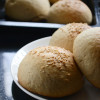 Eggless Whole Wheat Brioche Buns Recipe - #BreadBakers