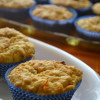 Eggless Carrot Raisin Cupcake