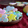Iced Sugar Cookies (Eggless)