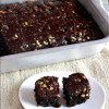 Eggless Butterless White Chocochip Brownies