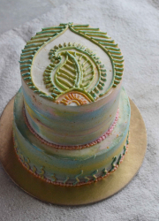 How To Create Water Colour Effect On Buttercream Cake - Cake Decorating Video Tutorial
