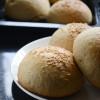 Eggless Whole Wheat Brioche Buns Recipe - #BreadBakers