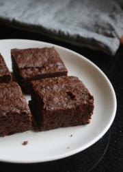 Eggless Cocoa Brownies Recipe