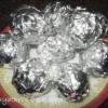 Eggless Peanut Fudge Stuffed Cake Balls