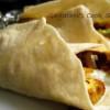 Greek Gyro (Vegetarian Version) With Homemade Pita Bread and Tzatziki Sauce