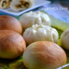 Eggless Chinese Steamed Buns/ Vegetarian Cha Sui Bao