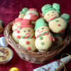 Snow Men Butter Cookies