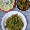 Palak Peas Pulao Recipe - Simple Lunch Menu 2