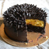 How To Pipe Easy Ganache Flower On Chocolate Orange Cake - Video Recipe