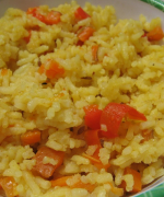 Carrot And Red Pepper Rice