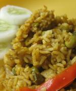 Mushroom and Green Peas Biriyani