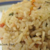 Carrot Green and Mushroom Pulao