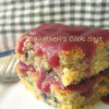 Eggless Grapes Sponge With Spiced Apple Sauce - February Sweet Punch