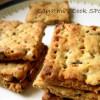 Baked Nippattu / Savory Onion Crackers