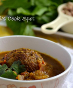 Palak Kofta Curry - Spinach and Chick peas Dumplings in Gravy