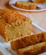 Eggless Honey Banana Wheat Loaf