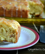 Eggless Orange Walnut Cake