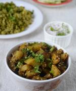 Methi Aloo Roast / Potato Fenugreek Leaves Roast