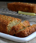 Eggless Cucumber Walnut Bread