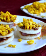 Mini Dosa Paneer Sandwich Chaat