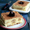 Eggless Tiramisu With Home Made Mascarpone Cream and Eggless Savoiardi Biscuits