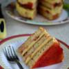 Eggless Cake Slice with Mango Icecream