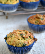 Eggless Spinach and Cheddar Muffins