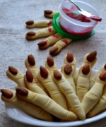 Eggless Spooky Witches' Fingers Recipe  - Halloween Recipes