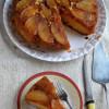 Eggless Pear Upside Down Cake