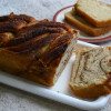 Eggless Cinnamon Swirl Brioche