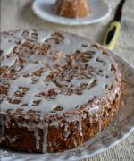 Eggless Almond Streusal Cake
