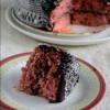 Eggless Gulkand Cake with Chocolate Ganache Frosting
