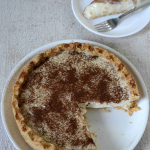 Eggless Milk Tart with Brown Butter Crust