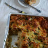 Eggless Savoury Bread Pudding