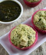 Eggless Tofu Methi Muffins