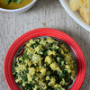 Ayib Be Gomen - Ethiopian Spinach and Cottage Cheese Stir Fry