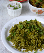 Palak Peas Pulao Recipe - Simple Lunch Menu 2