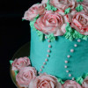Butter Cream Roses - Piping and Arranging On Cake