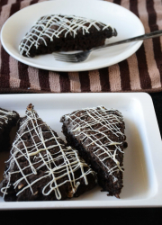 Eggless Chocolate Scones