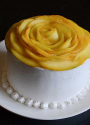 Eggless Mango Cream Cake Recipe