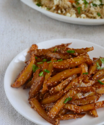 Honey Sesame Chilly Potatoes