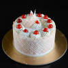 Eggless White Forest Cake Video Recipe
